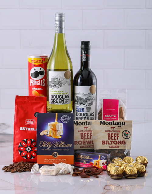 Chocolate Gift Boxes South Africa : Buy gift box of wine biltong and chocolates