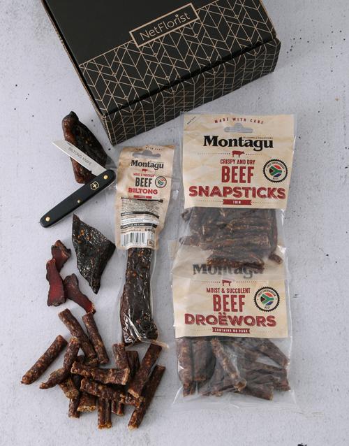 gourmet: Biltong Gift Box & Biltong Knife!