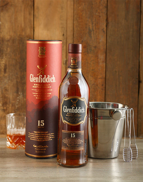fine-alcohol: Glenfiddich 15 Year with Ice Bucket!