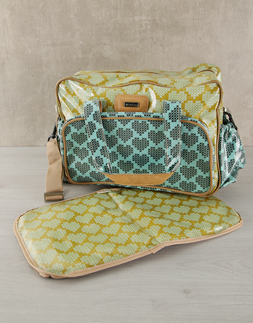 baby: Thandana Turquoise Heart Nappy Bag!