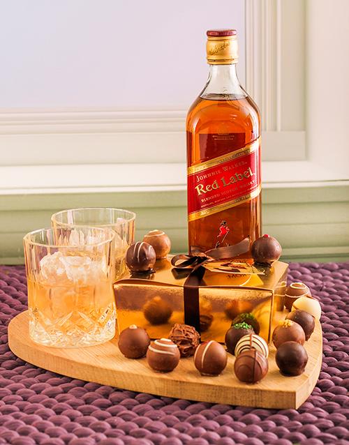 chocolate: Johnnie Walker Red & Chocolate Truffles!