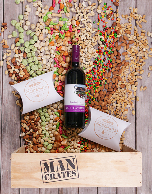 man-crates: Van Loveren and Nuts in a Wooden Crate!