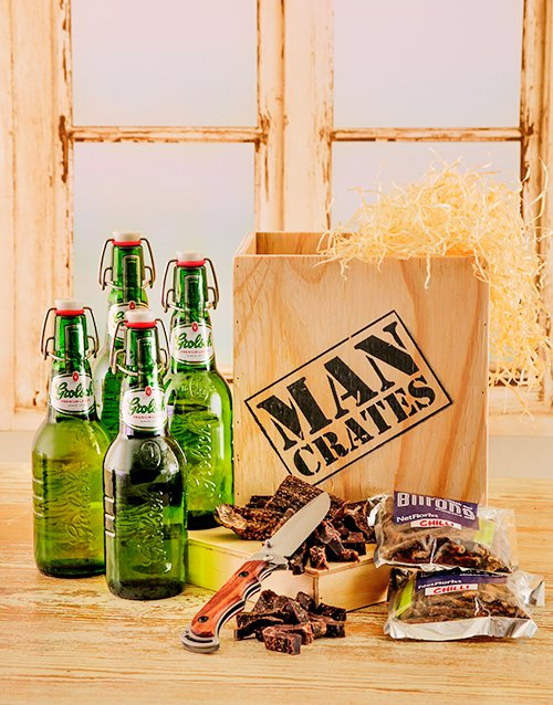 man-crates: Grolsch Beer & Biltong in a Crate!
