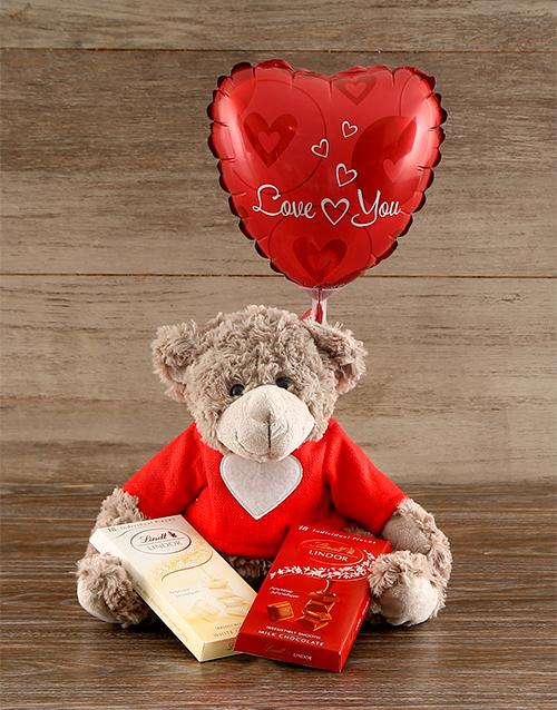 teddy-bears: Love Bear with Lindt Chocolates!