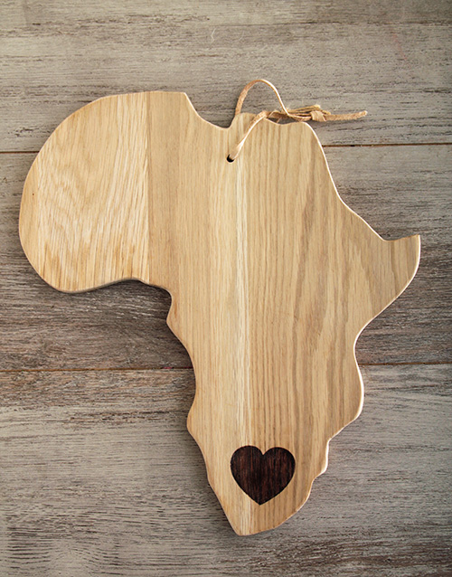 birthday: Laid back Weathered Oak Africa Cheese Board!