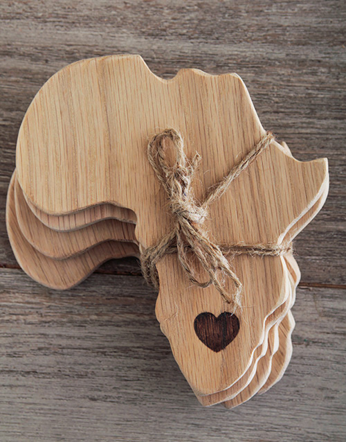 fathers-day: Laid back Weathered Oak Africa Coasters!