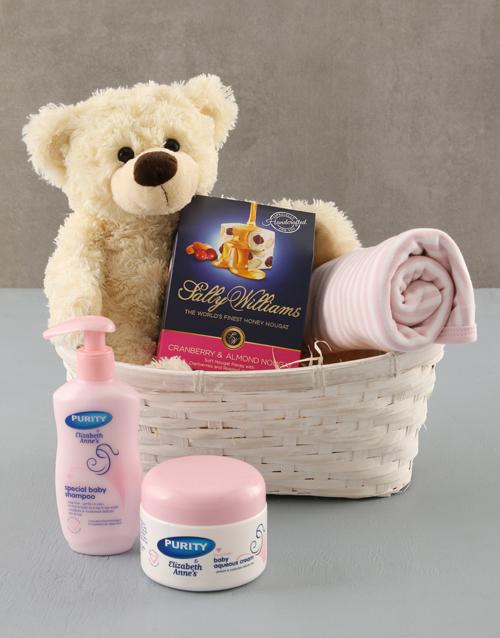baby: Baby Girl Gift Basket !