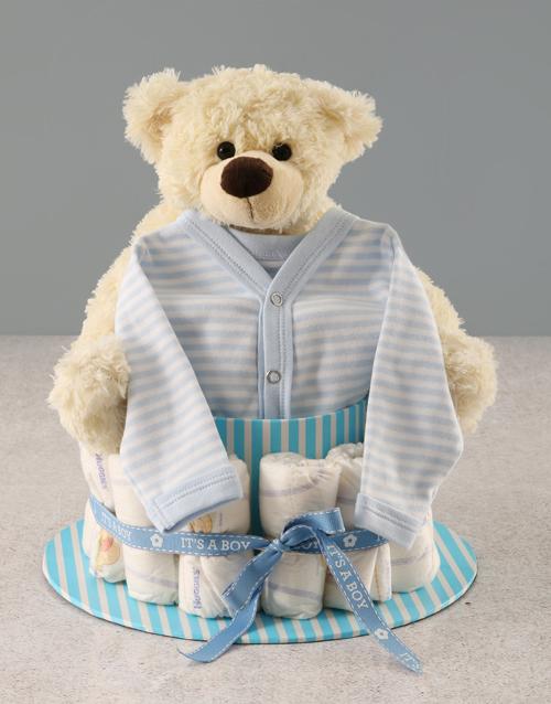 baby: Its a Boy Nappy Cake!