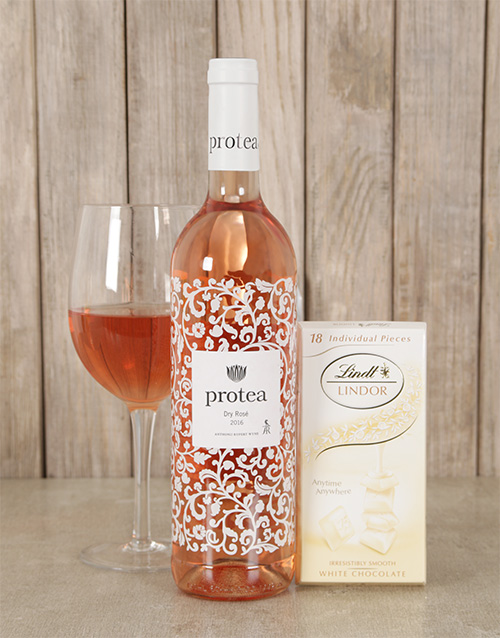 easter: Blushing Wine and Lindt Choc Duo !