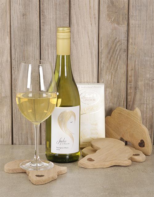 fine-alcohol: Elegant White Wine & Choc Hamper!