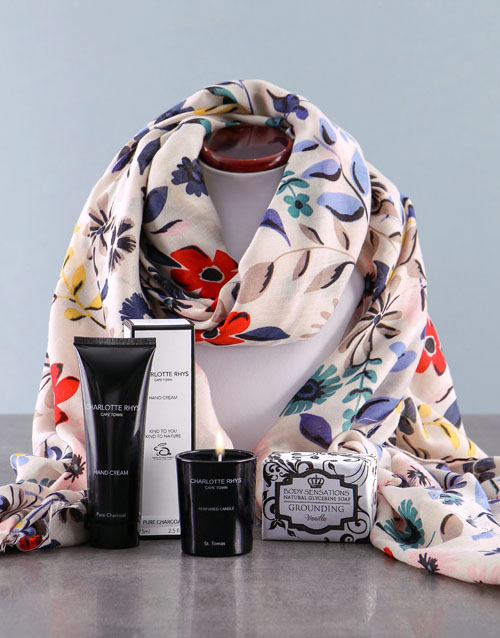 easter: Floral Scarf With Charlotte Rhys Hamper!