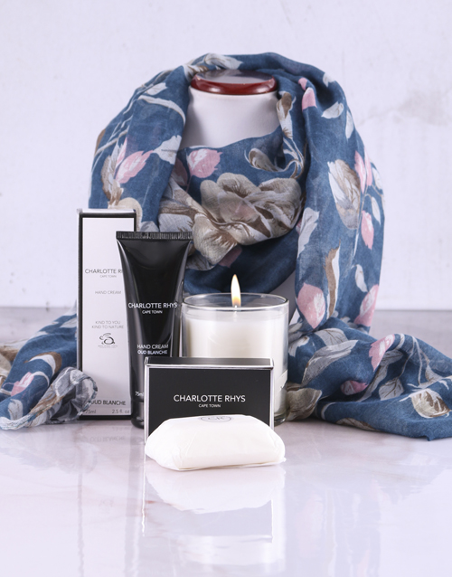 christmas: Floral Scarf With Charlotte Rhys Hamper!