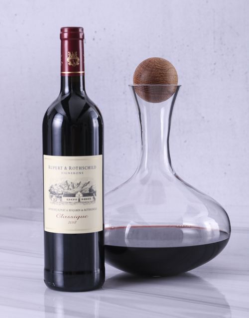 anniversary: Sagaform Decanter with Rupert and Rothschild!