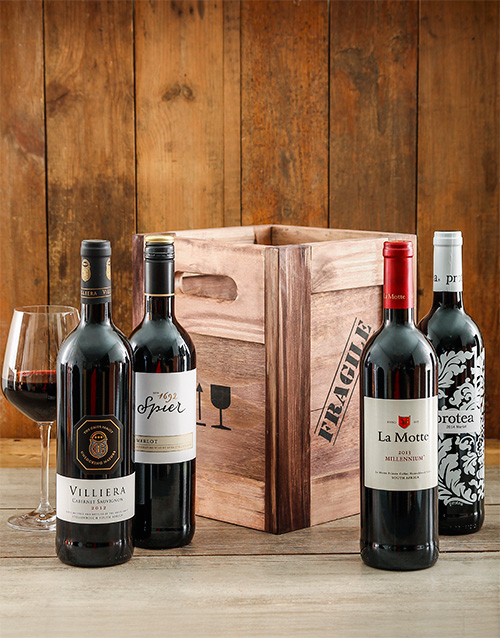 valentines-day: Red Wine Crate!