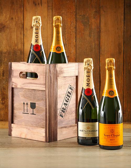 fine-alcohol: Moet & Veuve Crate!