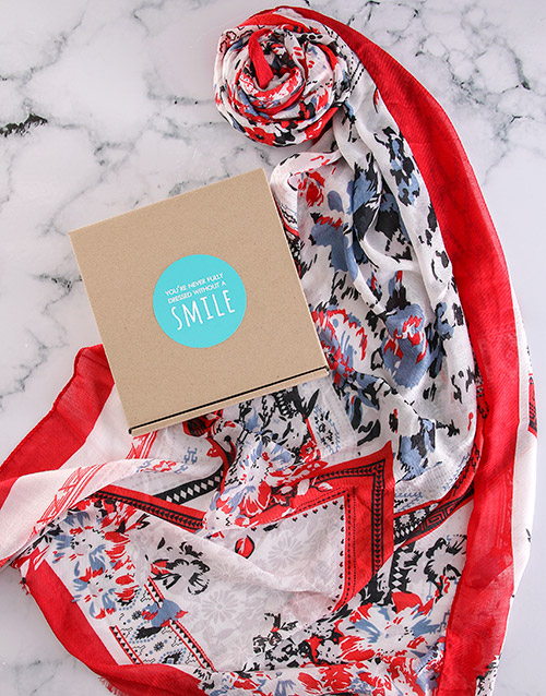 mothers-day: Floral Scarf Gift!