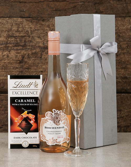 fine-alcohol: Boschendal Chardonnay and Lindt Box!