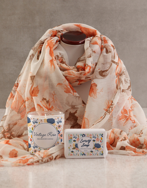 mothers-day: Scarf And Luxury Bath Gift Set!