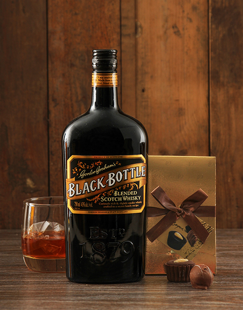 fine-alcohol: Black Bottle Whiskey and Truffles!