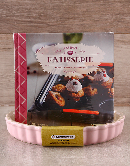 mothers-day: Le Creuset Fluted Flan Dish & Patisserie Cookbook!