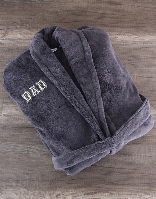 bath-and-body: Charcoal Fleece Robe for Dad!