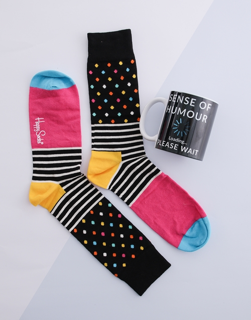fathers-day: Happy Socks and Mug Hamper!