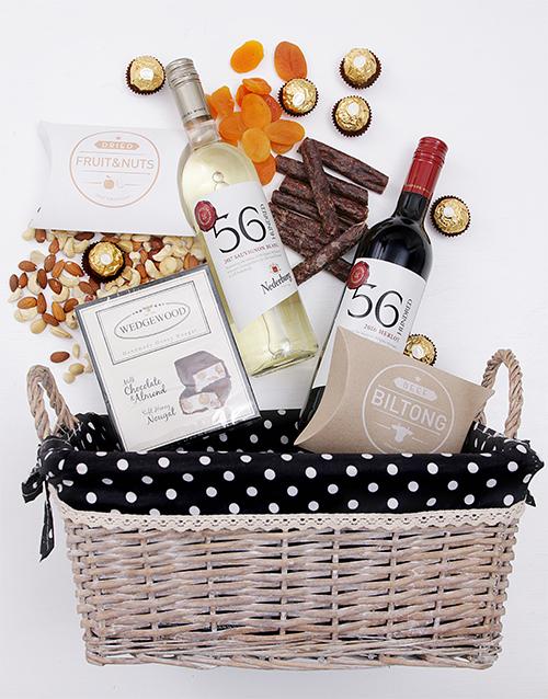 christmas: Wine Gourmet Snack Basket!