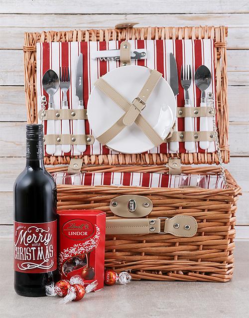 gourmet: Merry Little Christmas Picnic Basket!