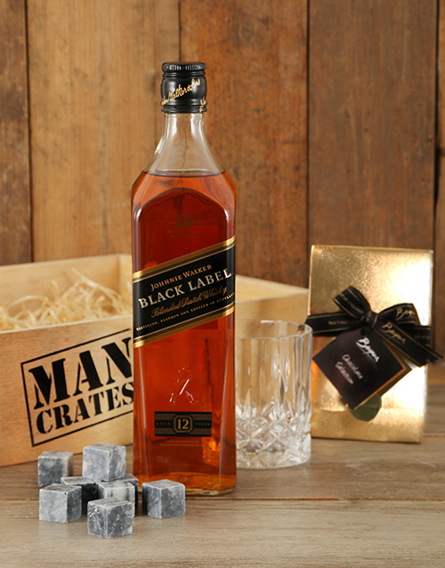 birthday: Classic Johnnie Walker Man Crate!