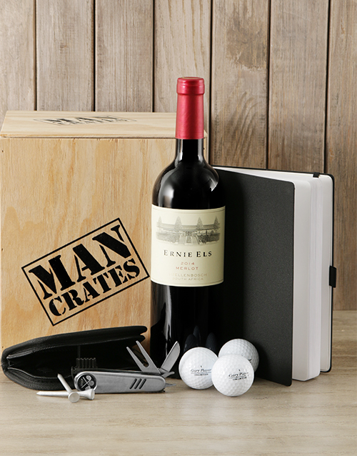 christmas: Golf Lovers Man Crate!