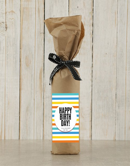fine-alcohol: Birthday Wine in Craft Paper!