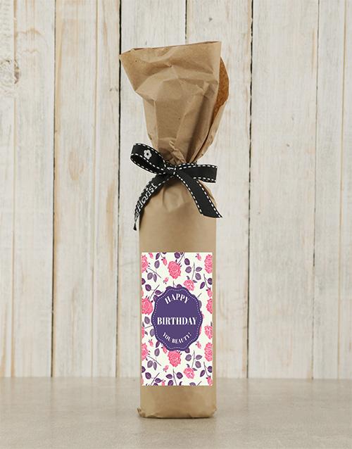 birthday: Birthday Roses Wine in Craft Paper!