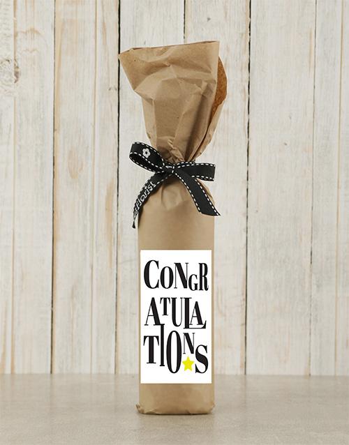 fine-alcohol: Congratulations Wine in Craft Paper!