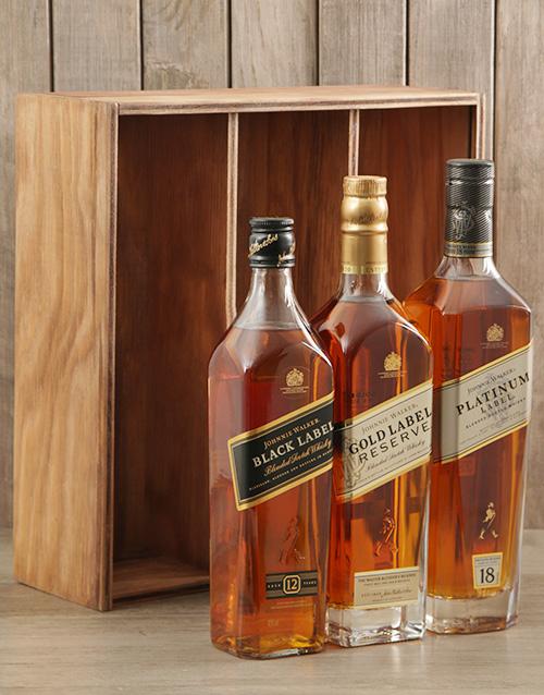 fine-alcohol: Triple Johnnie Walker Crate!