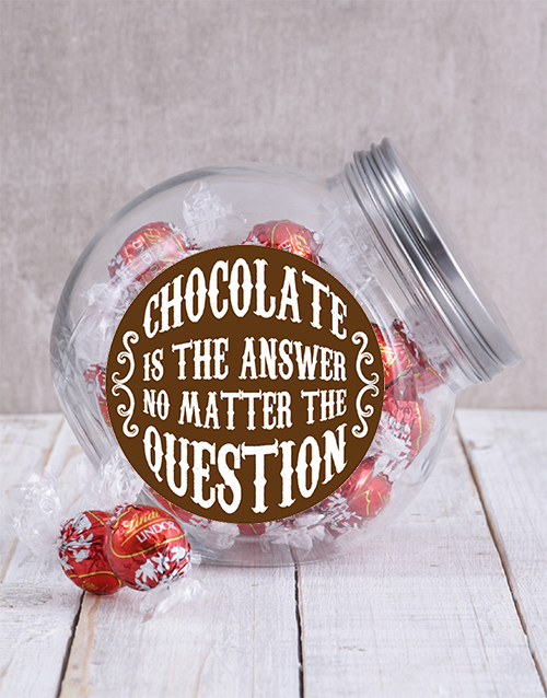 mothers-day: Chocolate Is The Answer Candy Jar!