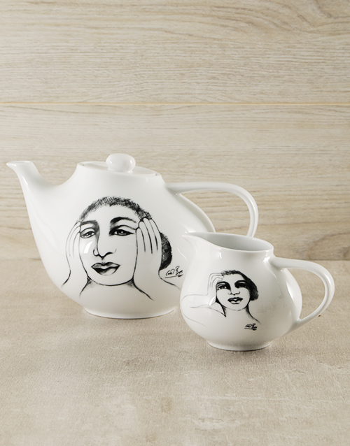 carrol-boyes: Carrol Boyes Ceramic Tea Pot & Milk Jug!