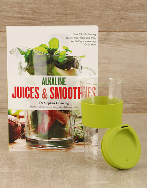 homeware: Alkaline Juices & Smoothies with Travel Mug!