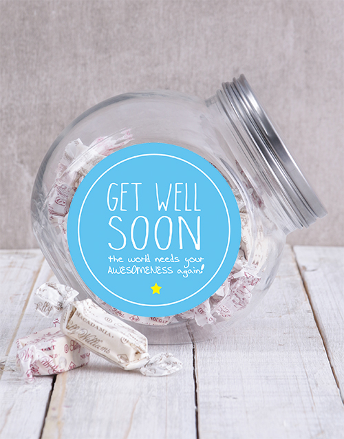 chocolate: Get Well Soon Candy Jar!