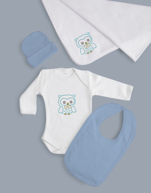 baby: Baby Boy Five Piece Owl Gift!