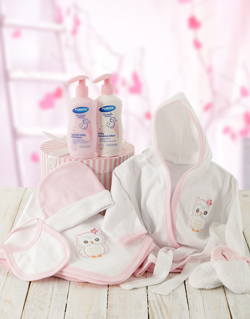 baby: Baby Girl Bed Time Gift With Products!
