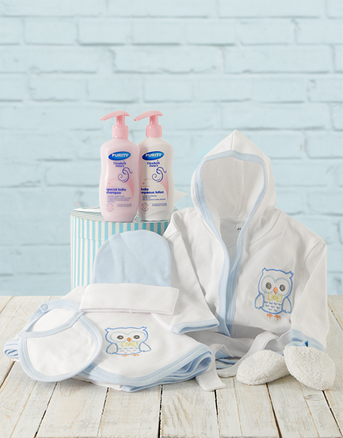 baby: Baby Boy Bed Time Gift With Products!