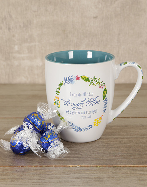 mothers-day: Through Him Mug Hamper!