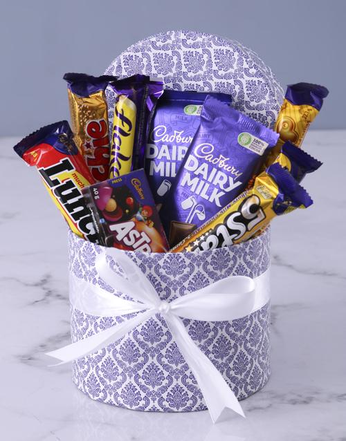 corporate: Blue Leaf Cadbury Hat Box!