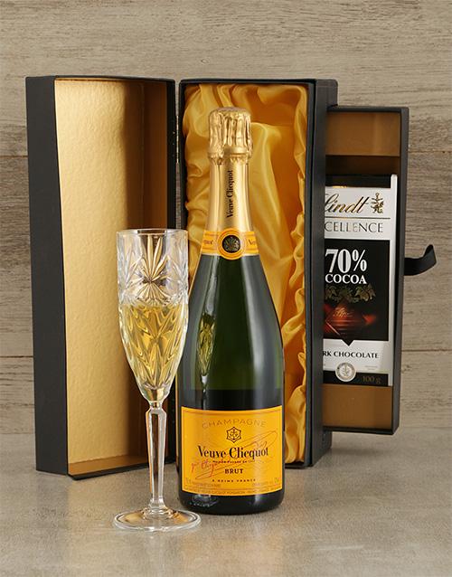 fine-alcohol: Veuve Cliquot and Lindt Box!