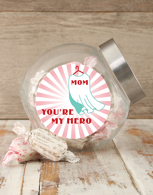 chocolate: Mom My Hero Candy Jar!