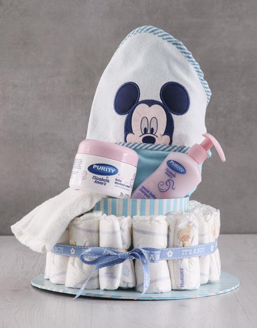 baby: Mickey Mouse Bathtime Nappy Cake!