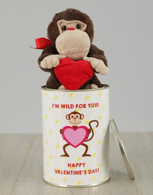 teddy-bears: Wild For You Monkey Tin!