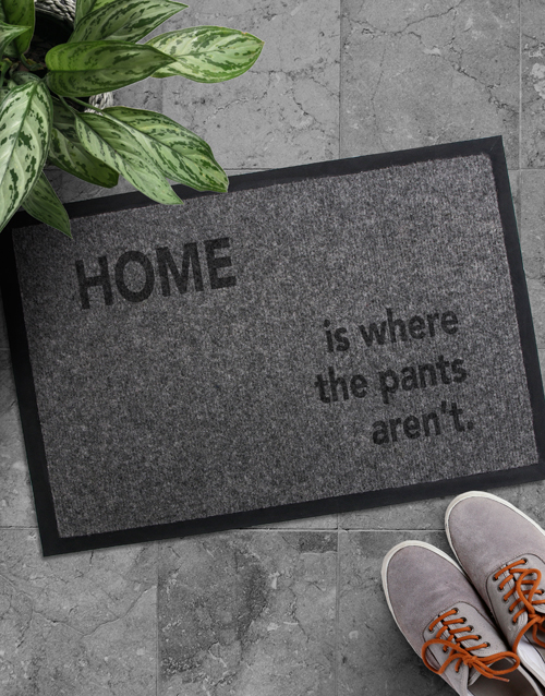house-warming: Where The Pants Doormat!