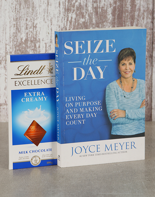 faith: Seize The Day Book and Lindt Slab!
