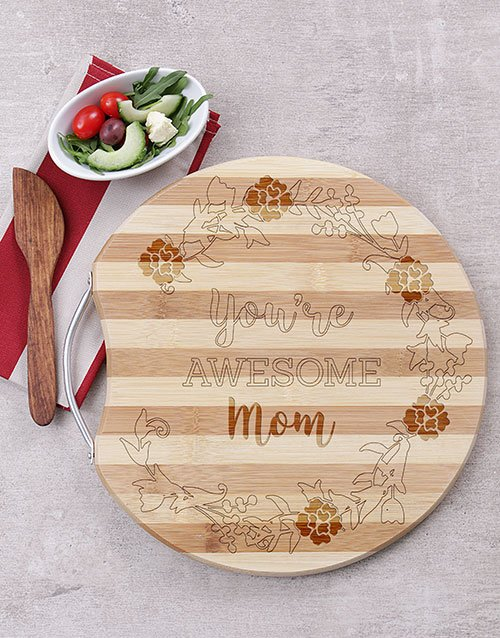 mothers-day: Awesome Mom Round Board!